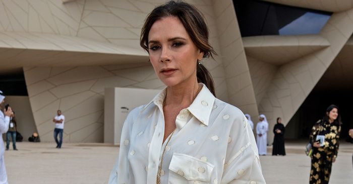 Victoria Beckham Wore a White Dress to a Wedding